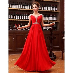 Formal Evening Dress - Ruby Plus Sizes A-line Sweetheart Floor-length Georgette