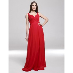 Formal Evening / Military Ball Dress - Ruby Plus Sizes / Petite Sheath/Column Straps / Sweetheart Floor-length Chiffon
