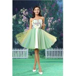 Cocktail Party Dress - Ivory A-line Strapless Short/Mini Organza / Satin Special Occasion Dresses