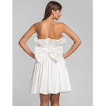 TS Couture / Cocktail Party / Wedding Party Dress - Ivory Plus Sizes / Petite A-line / Princess Strapless Short/Mini Taffeta Special Occasion Dresses