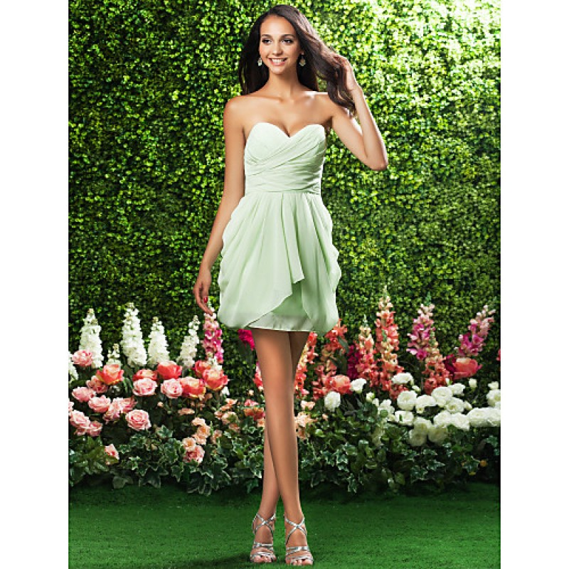 f8d5719cf4 ... Apple   Inverted Triangle   Rectangle · Short Mini Chiffon Bridesmaid  Dress - Sage Plus Sizes   Hourglass   Pear   Misses