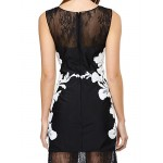 TS Couture Cocktail Party Dress - Black Sheath/Column Scoop Short/Mini Lace Special Occasion Dresses