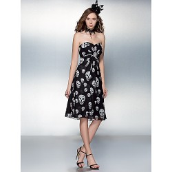 Cocktail Party / Prom Dress - Print Plus Sizes / Petite Sheath/Column Sweetheart Knee-length Chiffon