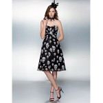 Cocktail Party / Prom Dress - Print Plus Sizes / Petite Sheath/Column Sweetheart Knee-length Chiffon Special Occasion Dresses