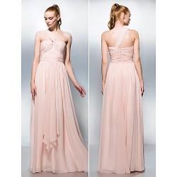 Formal Evening Prom Military Ball Dress Pearl Pink Plus Sizes Petite A Line Princess One Shoulder Sweetheart Floor Length