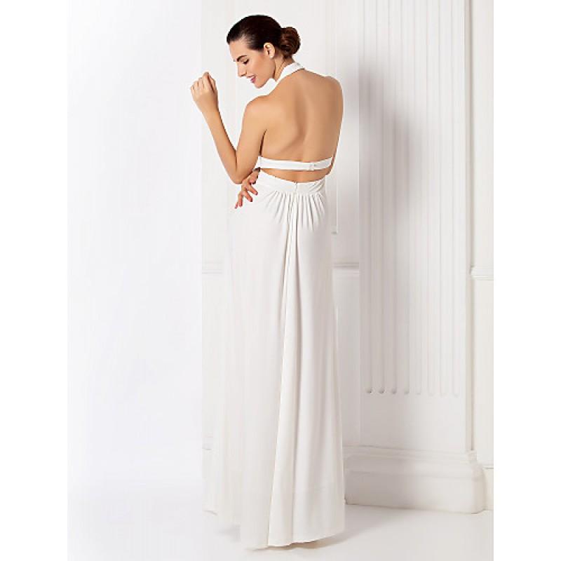 16ce0e6e8869 ... Formal Evening / Prom / Military Ball Dress - White Plus Sizes / Petite  Sheath/