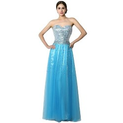 Formal Evening Dress Blushing Pink Champagne Sky Blue Ocean Blue Sheath Column Sweetheart Floor Length Chiffon