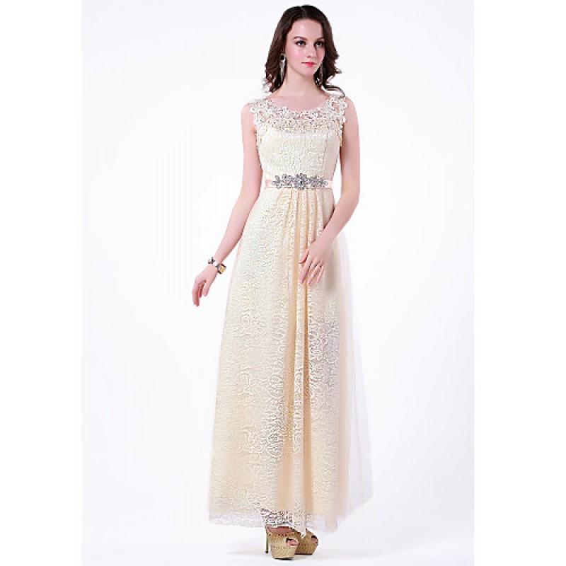 Formal Evening Dress - Champagne Plus Sizes / Petite A-line ...