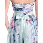 Formal Evening Dress - Print Sheath/Column Sweetheart Floor-length Chiffon Special Occasion Dresses