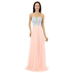 Formal Evening Dress - Candy Pink Sheath/Column Sweetheart Floor-length Chiffon