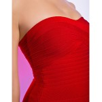Cocktail Party / Holiday Dress - Ruby Petite Sheath/Column Sweetheart Short/Mini Rayon Special Occasion Dresses