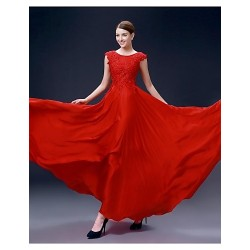Formal Evening Dress Ruby Plus Sizes A Line Bateau Floor Length Satin