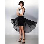 Cocktail Party Dress - Multi-color A-line Square Asymmetrical Chiffon Special Occasion Dresses