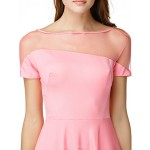 TS Couture Cocktail Party Dress - Watermelon A-line Bateau Knee-length Jersey Celebrity Dresses