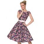 Cocktail Party Dress - Print Plus Sizes A-line Scoop Knee-length Cotton Special Occasion Dresses