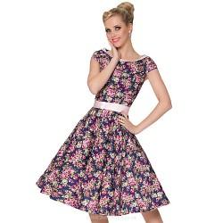 Cocktail Party Dress - Print Plus Sizes A-line Scoop Knee-length Cotton