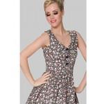 Cocktail Party Dress - Print Plus Sizes A-line V-neck Knee-length Cotton Special Occasion Dresses