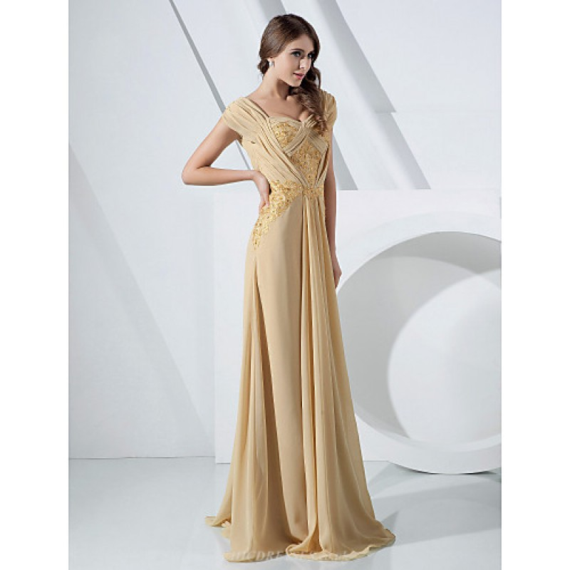 Formal Evening Military Ball Dress Gold Plus Sizes