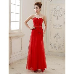 Formal Evening Dress - Ruby Plus Sizes A-line Sweetheart Floor-length Tulle