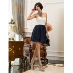 Cocktail Party / Homecoming / Holiday Dress - Multi-color Plus Sizes / Petite A-line Sweetheart Short/Mini Chiffon / Lace Special Occasion Dresses