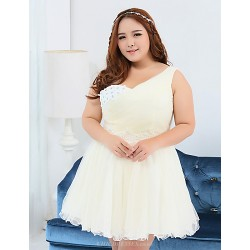 Short Mini Polyester Bridesmaid Dress Ivory Ball Gown One Shoulder