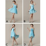 Mix & Match Dresses Short/Mini Chiffon 4 Styles Bridesmaid Dresses (2839947) Special Occasion Dresses