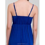 Formal Evening Dress - Royal Blue A-line V-neck Floor-length Special Occasion Dresses