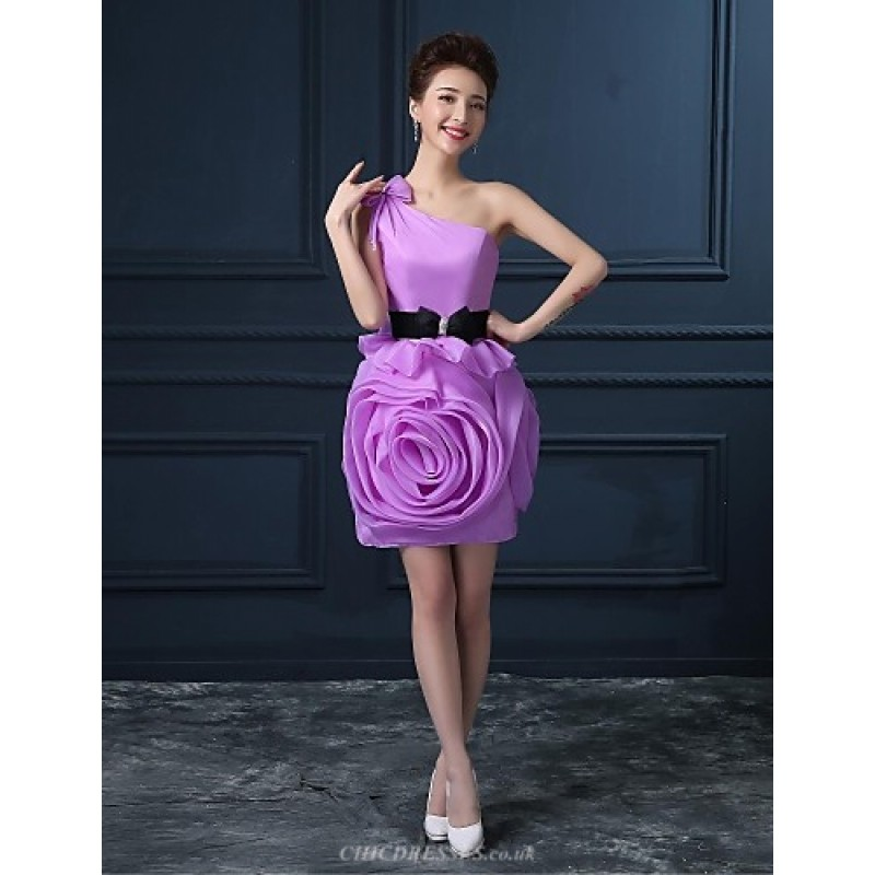 Cocktail Party Dress - Champagne / Lilac / Watermelon Plus Sizes A ...