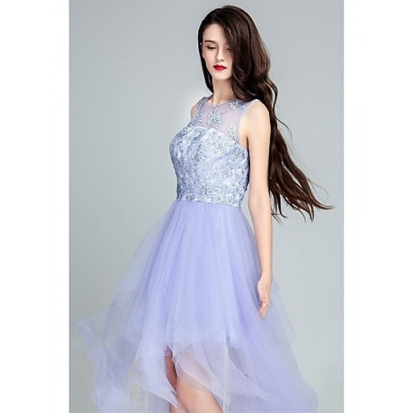 Cocktail Party Dress - Lavender Ball Gown Scoop Floor-length Tulle Special Occasion Dresses