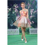 Cocktail Party Dress - Blushing Pink A-line Strapless Short/Mini Organza / Satin Special Occasion Dresses