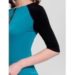 Cocktail Party Dress - Multi-color Plus Sizes Sheath/Column Jewel Knee-length Cotton Celebrity Dresses