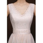 Short/Mini Bridesmaid Dress - Champagne Sheath/Column V-neck Special Occasion Dresses