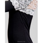 Cocktail Party Dress - Black Sheath/Column Bateau Knee-length Polyester Celebrity Dresses