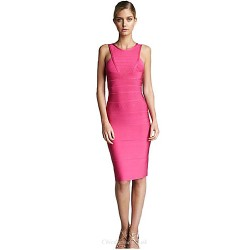 Cocktail Party Dress Watermelon Petite Sheath Column Jewel Short Mini Rayon