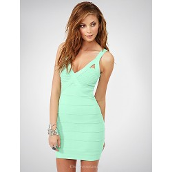 Cocktail Party Dress Clover Petite Sheath Column High Neck Spaghetti Straps Short Mini Rayon