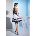 Cocktail Party Dress - White Ball Gown Strapless Short/Mini Organza Special Occasion Dresses