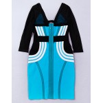 Cocktail Party Dress - Multi-color Petite Sheath/Column V-neck Short/Mini Rayon Special Occasion Dresses