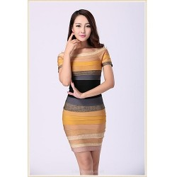 Cocktail Party Dress - Multi-color Petite Sheath/Column Scoop Short/Mini Spandex / Rayon / Nylon Taffeta