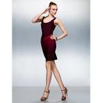 Dress - Multi-color Petite Sheath/Column Scoop Short/Mini Silk Special Occasion Dresses