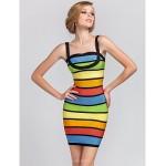 Cocktail Party Dress - Multi-color Petite Sheath/Column Straps Short/Mini Rayon Special Occasion Dresses