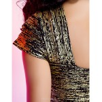 TS Couture Cocktail Party Dress - Gold Petite Sheath/Column One Shoulder Short/Mini Rayon Special Occasion Dresses