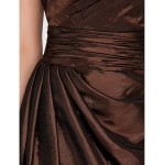Wedding Party / Homecoming / Cocktail Party Dress - Brown A-line / Princess Strapless / Spaghetti Straps Short/Mini Taffeta Celebrity Dresses
