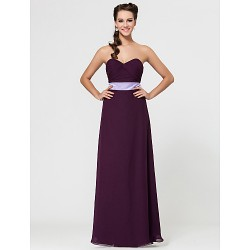 Military Ball Formal Evening Wedding Party Dress Grape Sheath Column Strapless Sweetheart Spaghetti Straps Floor Length Chiffon