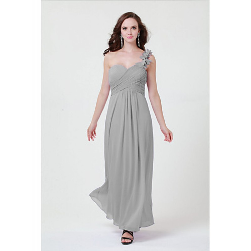322718e988cf ... Floor-length Chiffon Bridesmaid Dress - Daffodil / Blushing Pink / Lilac  / Grape ...
