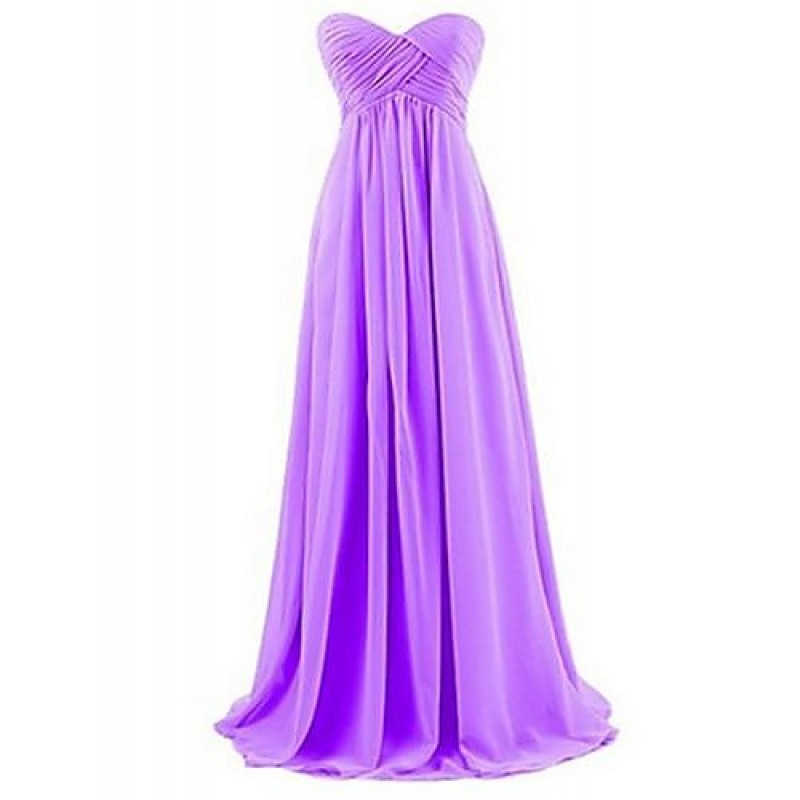 Floor length chiffon bridesmaid dress orange royal for Pink and orange wedding dresses