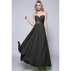Floor Length Chiffon Bridesmaid Dress Black Lime Green Fuchsia Daffodil Burgundy Royal Blue Silver Pool Ruby Regency