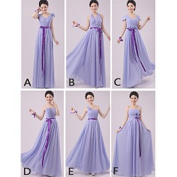 Mix & Match Dresses Floor Length Chiffon 5 Styles Bridesmaid Dresses (2840141)