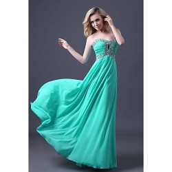 Dress Pool A Line Sweetheart Floor Length Chiffon