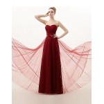 Floor-length Lace Bridesmaid Dress - Burgundy A-line Sweetheart Special Occasion Dresses