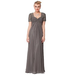 Dress - As Picture Petite Sheath/Column Queen Anne Floor-length